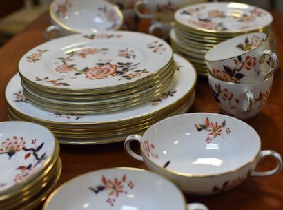 STAFFORDSHIRE  Japanese service part, blue, red and gold enameled porcelain  Includes...