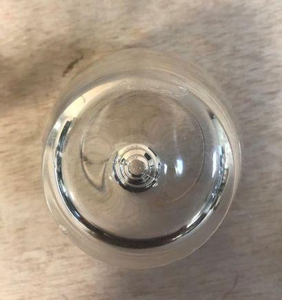 STEUBEN (American manufacturer since 1903)  Set of four signed water glasses under...