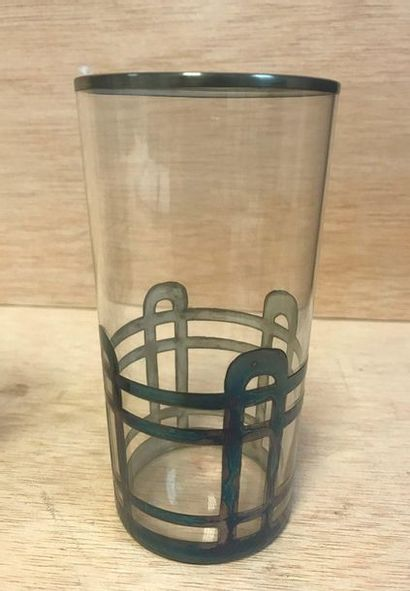 Set of five lenses with metal frame  Secession style.