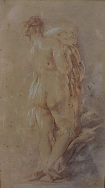 According to François BOUCHER (1703-1770)  Female Nudes  Two ways of pencils  39...