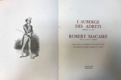 ANTIER (Benjamin)] - L'auberge des Adrets - Robert Macaire - Grenoble ; Roissard,...