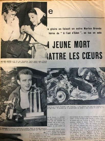 Album on James DEAN  Notebook containing press clippings, magazine pages and various...