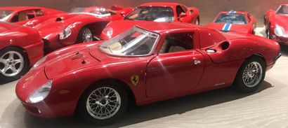 FERRARI  Set of 16 painted metal miniature collector cars  14 on a scale of 1/18...
