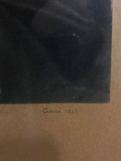 CROUSE  Virgin and Child  Black Manner  Signed lower right and dated 1841.  34,5...