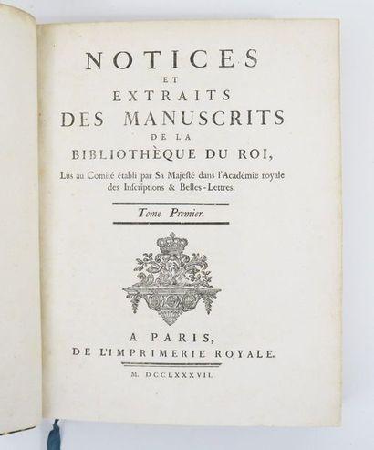 § [Bibliophilie - Bibliothèque royale]. Notices...