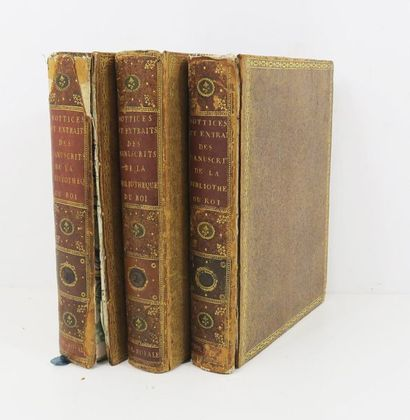 § [Bibliophily - Royal Library]. Notices and extracts from the manuscripts in the...