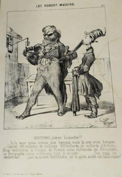 [DAUMIER (Honoré)]. Les Cent Robert-Macaire....
