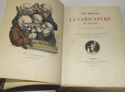 GRAND-CARTERET (John). Les Mœurs et la caricature en France. 8 colour plates, 36...