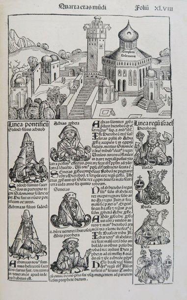 § Nuremberg Chronicle - SCHEDEL (Hartmann). [LIBER CHRONICARUM]. Registrum huius...