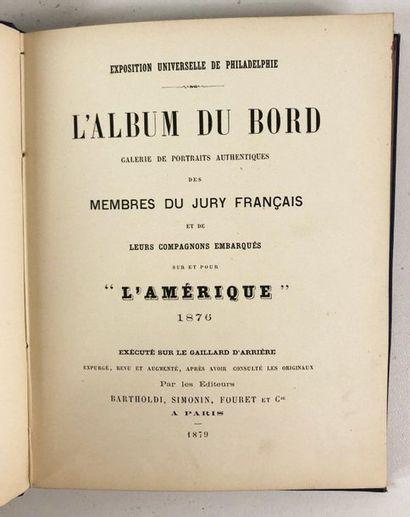 Marine. L'album du bord. Galerie de portraits authentiques des membres du jury français...