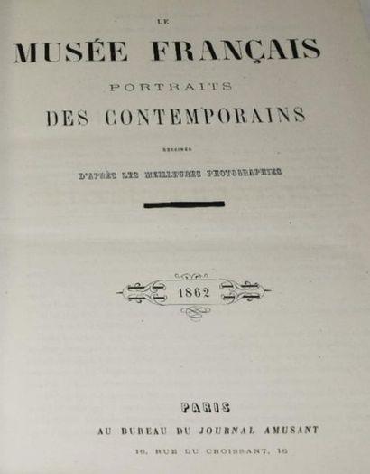 Musée français (Le). Portraits des contemporains dessinés d'après les meilleures...