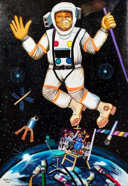 MOKE FILS (né en 1968) L'art dans l'espace,...