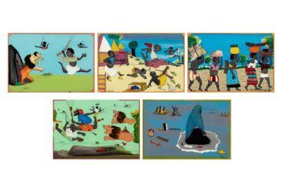 Gora M'BENGUE (1931-1988) Sans titre, 1977-1984...