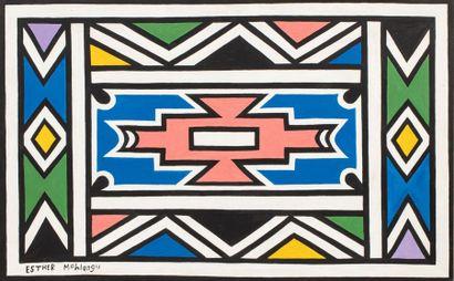 Esther MAHLANGU (né en 1935) Sans titre Acrylique...