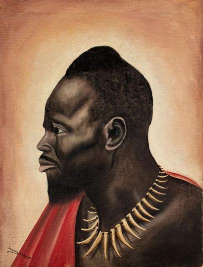 Leopold KALEMA (Xxe) Portrait, circa 1950...