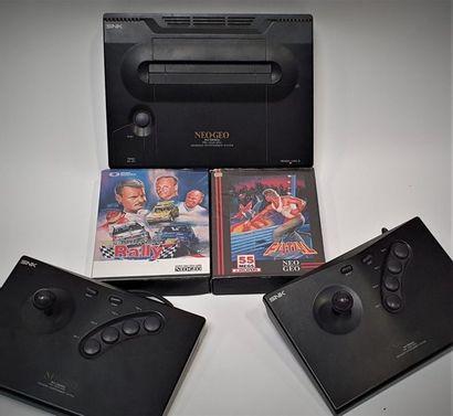 Console SNK Neo Geo AES PAL (1990) Vendue avec deux sticks arcade officiels, câbles,...