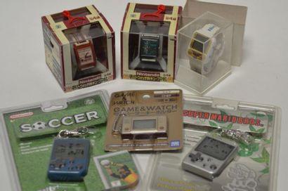 Lot de 3 montres Nintendoen boite aisi que...