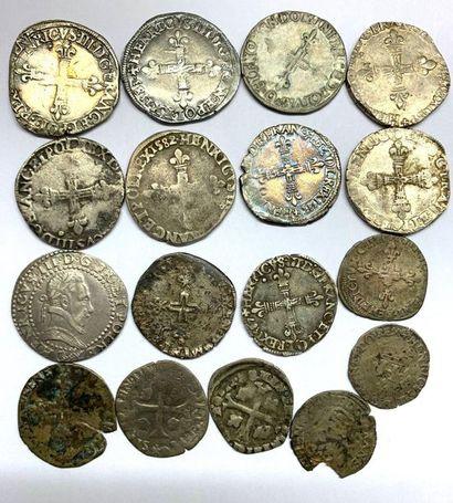 France – Henri III  Important lot de dix-sept...