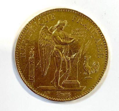 France Troisième république  Une monnaie de 100 Francs Génie 1910 A (Paris)  Poids...