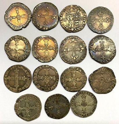 France – Henri IV  Important lot de quinze...