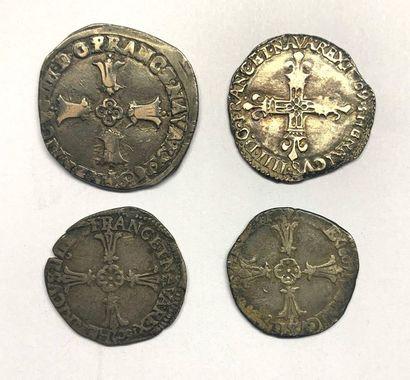 France – Henri IV  Lot de quatre monnaies...