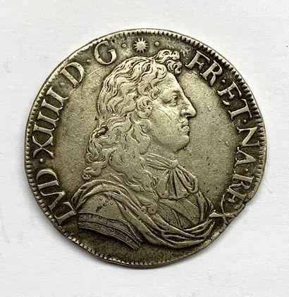 France – Louis XIIII  Un Écu de Navarre à...