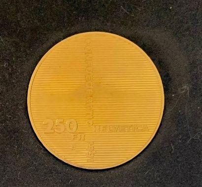 CONFEDERATION HELVETIQUE-  Une monnaie de 250 francs 700 ans de la Confédération...