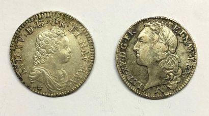 France – Louis XV  Lot de deux monnaies,...