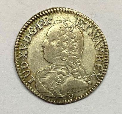 France – Louis XV  1/5 Écu 1726 E (Tours)...