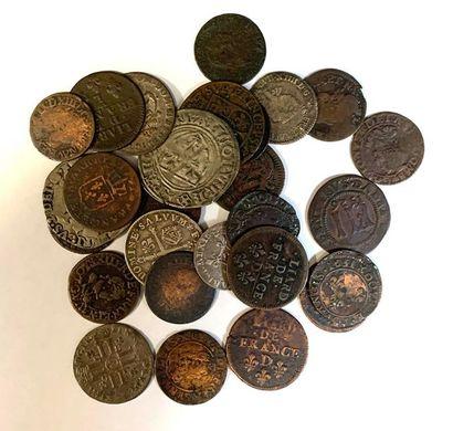 Monde-  Lot de petites monnaies royales divers...