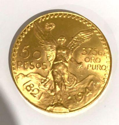 Mexique -  Une monnaie de 50 pesos Or  poids...