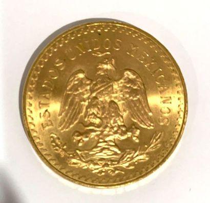 Mexique -  Une monnaie de 50 pesos Or  poids : 41,71 grammes  TTB+