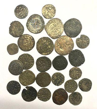 France –  Important lot de vingt sept monnaies...