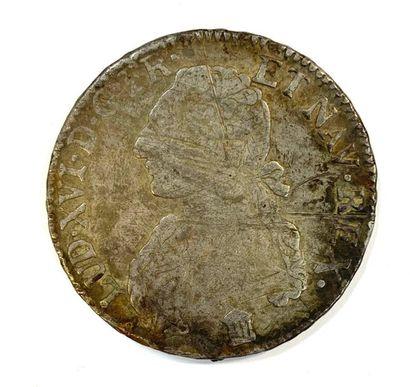 France _ Louis XVI  Un ecu 1785 K (bordeau)...