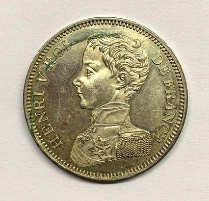 France – Henri V prétendant  Un rare Écu...