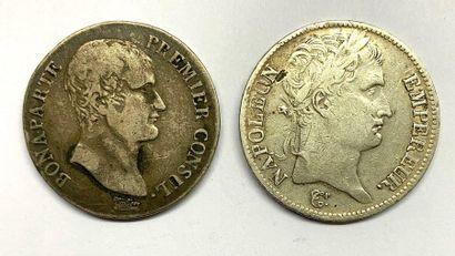 France – Napoléon Ier  Lot de deux écus,...