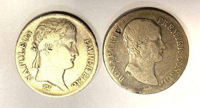 Monde - Napoléon Ier  Lot de deux écus, comprenant:...