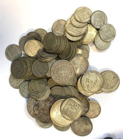 France  Important lot de monnaies en argent,...