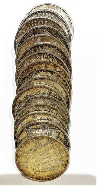 France  Lot de 16 monnaies 10 Francs Hercule...