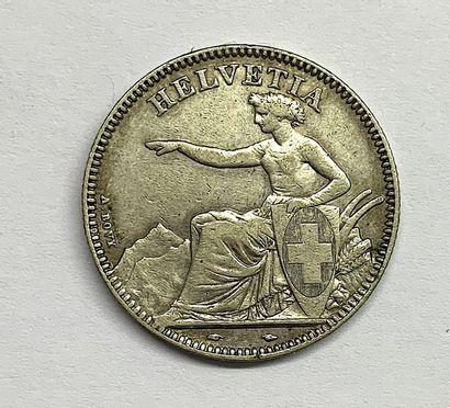 Suisse – Helvétique  Une monnaie de 2 Francs...