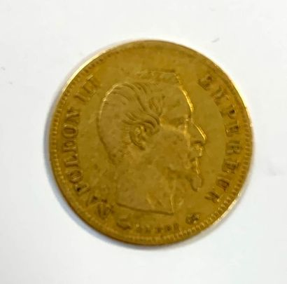 France _ Napoléon III tête nue  Une monnaie de 10 Francs Or 1856 A (Paris)  3,20...