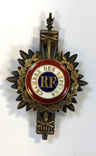 Médaille chambre des députés  Quatrième république...