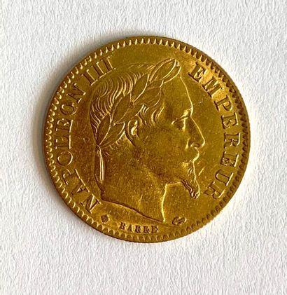 France – Napoléon III  Une monnaie de 10...