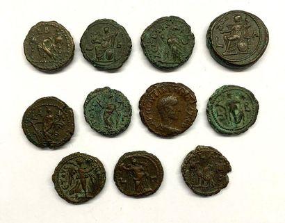 Rome - Carin  Lot de onze Tétradrachmes  Bronze  Poids compris entre 7,00 et 13,35...