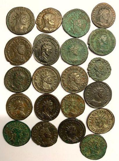 Rome – Empire  Dioclétianus  Lot de vingt...