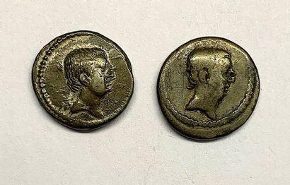 Rome – Livineia  Lot de deux Deniers  A : Tête de Livineia à droite  R1 : Modius...