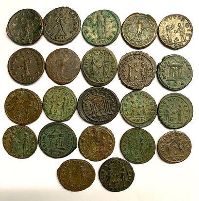 Siscia – Probus  Lot de vingt-deux deniers en billon  Poids 3,03 et 4,44 grammes...