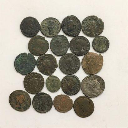 Rome  Lot de 19 deniers de l'Empire  Etat...