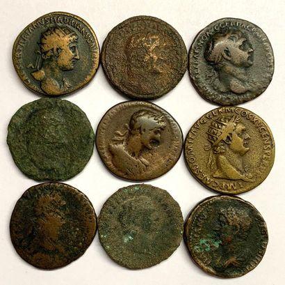 Rome – Divers  Lot de neuf Bronzes divers...