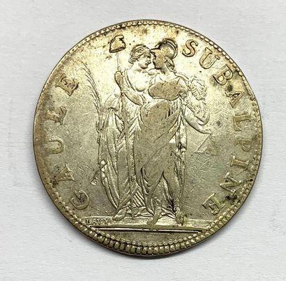 Italie – Gaule Subalpine  Un Écu de 5 Francs...